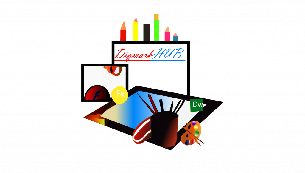 A Digmarkhub Official logo real