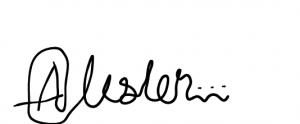 Alister's signature