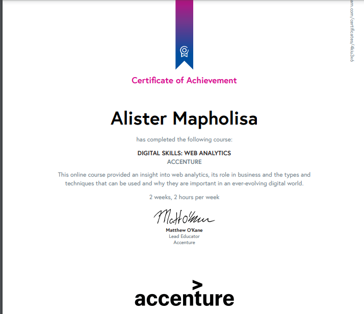 web analytics certificate